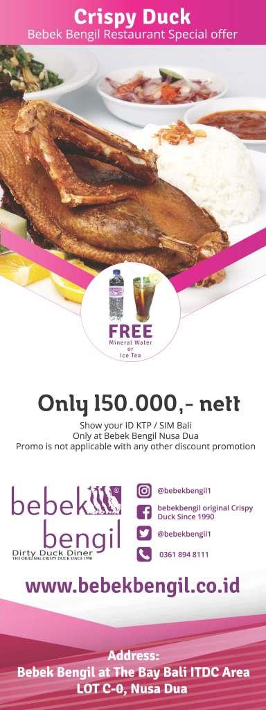 Bebek Bengil Restaurant Special Offer ID KTP or SIM Bali