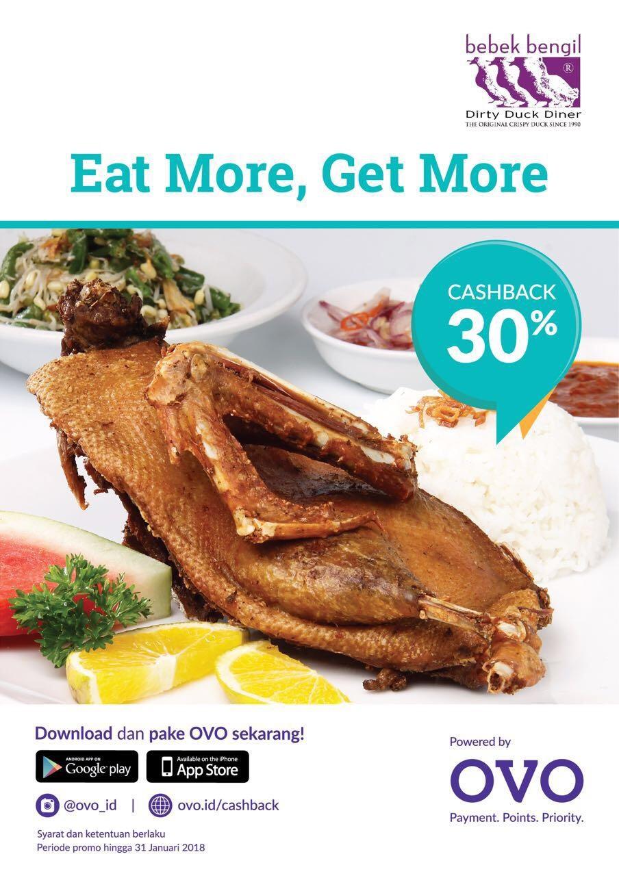 Dapatkan Cashback 30% dengan OVO di Bebek Bengil Restoran.