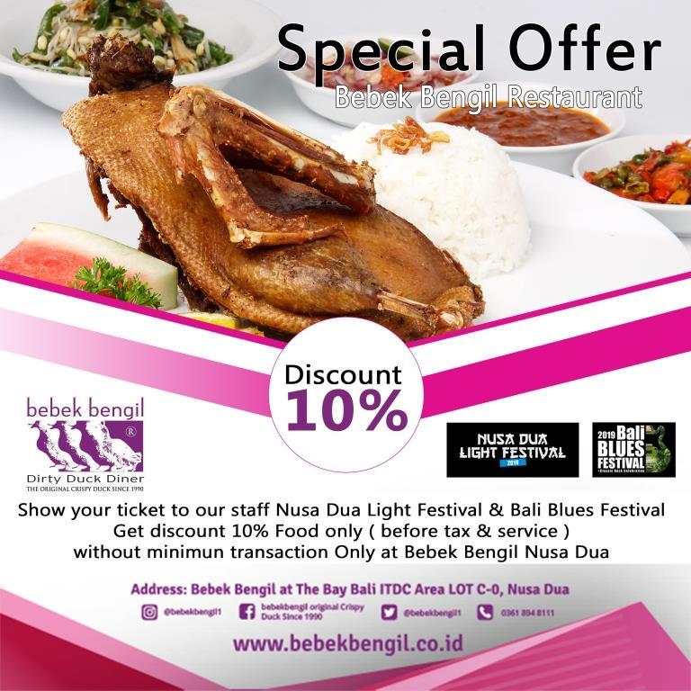 Special Offer Bebek Bengil Restaurant Nusa Dua
